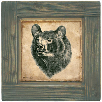 Brown Bear Beverage Coasters, Set of 8