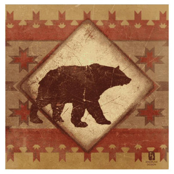 Lodge Bear Absorbent Beverage Coasters by Bindrune Design, Set of 8
