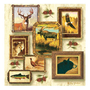 Wildlife II Absorbent Beverage Coasters by Greg Giordano, Set of 8