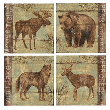 Northern Wildlife Set Beverage Coasters by Daphne B, Set of 8