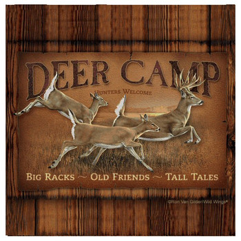 Deer Camp Absorbent Beverage Coasters by Ron Van Gilder, Set of 8