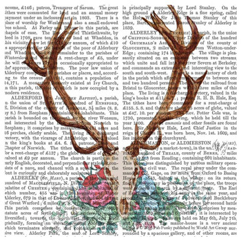 Deer Skull with Flowers Print Absorbent Beverage Coasters, Set of 12