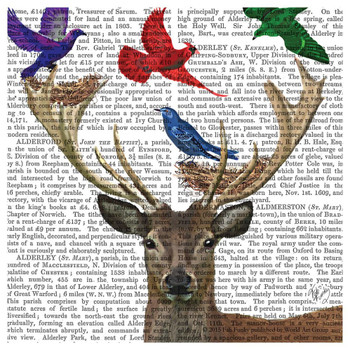 Deer with Birds and Bird Nests Print Beverage Coasters, Set of 12