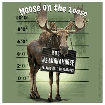 Moose on the Loose Beverage Coasters by Jim Baldwin, Set of 8