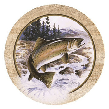 Killens Trout Fish Sandstone Beverage Coasters by Jim Killen, Set of 8