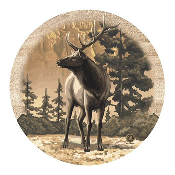 Canyon Elk Sandstone Beverage Coasters by Paul Lanquist, Set of 8