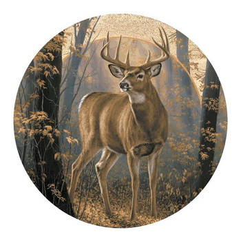 Woodland Mist Deer Sandstone Coasters by Rosemary Millette, Set of 8