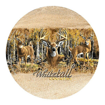 Whitetail Country Deer Coasters by Stephen Michael Gardner, Set of 8