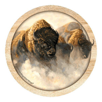 Phantoms of the Plain Buffalo Coasters by Grant Hacking, Set of 8