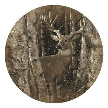 Birchwood Buck Deer Round Beverage Coasters by Collin Bogle, Set of 8