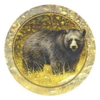 Winter's in the Air Bear Round Coasters by Greg Giordano, Set of 8