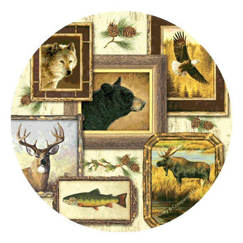 Wildlife Absorbent Round Beverage Coasters by Greg & Company, Set of 8
