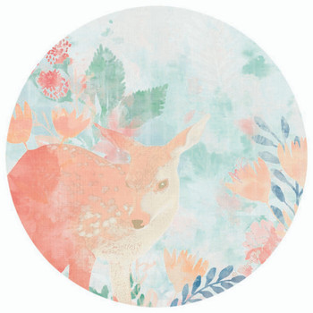 Spring Fawn Round Absorbent Beverage Coasters, Set of 8