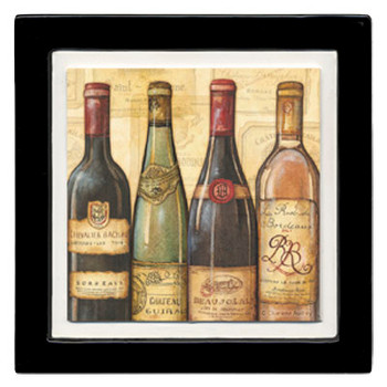 Bottled at the Vineyard Wine Bottles Beverage Coasters, Set of 8