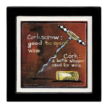 A Cork Story Beverage Coasters, Set of 8