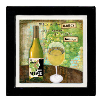 No Frills Wine Beverage Coasters, Set of 8