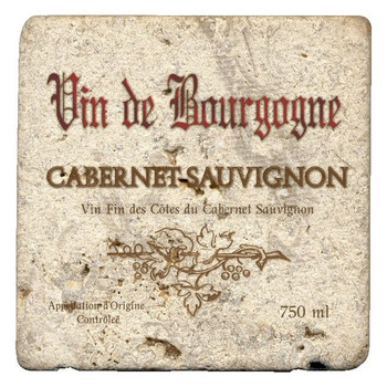 Cabernet Sauvignon Beverage Coasters by Kate Ward Thacker, Set of 12
