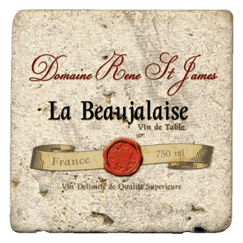 La Beaujalaise Beverage Coasters by Kate Ward Thacker, Set of 12