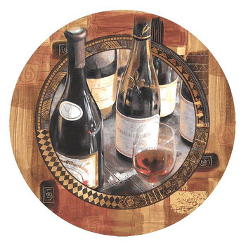 Perfect Vintage II Round Beverage Coasters by Rob Hefferan, Set of 8