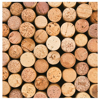Wine Corks Absorbent Beverage Coasters, Set of 8