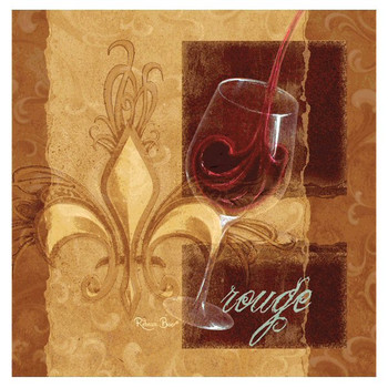 Vintner's Choice Rouge Beverage Coasters by Rebecca Baer, Set of 8