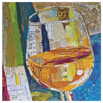 Chardonnay Beverage Coasters by E. St. Hilaire Nelson, Set of 12