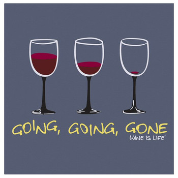 Going Going Gone Beverage Coasters by Wine is Life, Set of 12