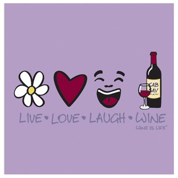 Live Love Laugh Wine Beverage Coasters by Wine is Life, Set of 12