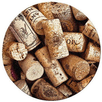 Corks Wine Cork Beverage Coasters, Set of 12