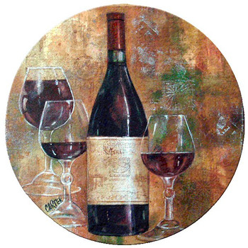 Pinot I Cork Beverage Coasters by Jamie Carter, Set of 12