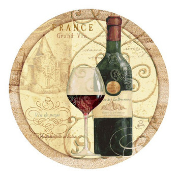 Wine Passion I Sandstone Beverage Coasters by Daphne B, Set of 8