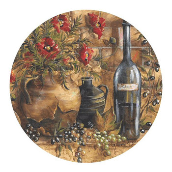 Wine and Poppies Sandstone Coasters by Tre Sorelle Studios, Set of 8