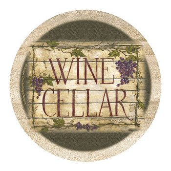 Wine Cellar II Sandstone Beverage Coasters by A. Tavoletti, Set of 8