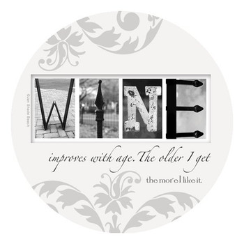 Wine Absorbent Round Beverage Coasters by Jan Shade Beach, Set of 8
