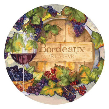 Bordeaux Round Beverage Coasters by Kathleen Parr McKenna, Set of 8