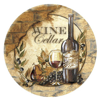 Wine Cellar II Beverage Coasters by Tre Sorelle Studios, Set of 8