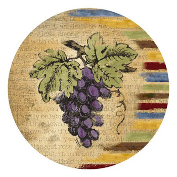 Vintner's Bounty Round Beverage Coasters by Tara Reed, Set of 8