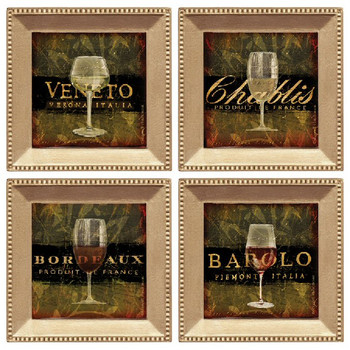 Wine Glasses Beverage Coasters, Set of 8