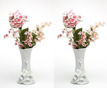 Calla Lily Flower Porcelain Vase, Set of 2