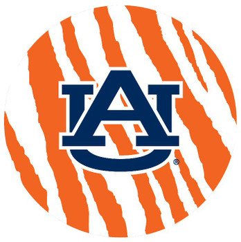 Auburn Tigers Stripes Absorbent Beverage Coasters, Set of 8