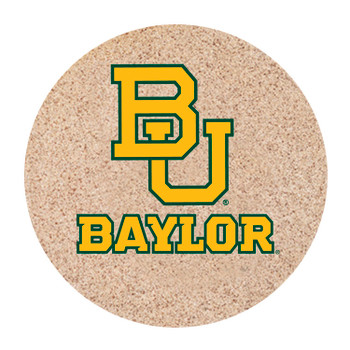 Baylor Bears Sandstone Beverage Coasters, Set of 8