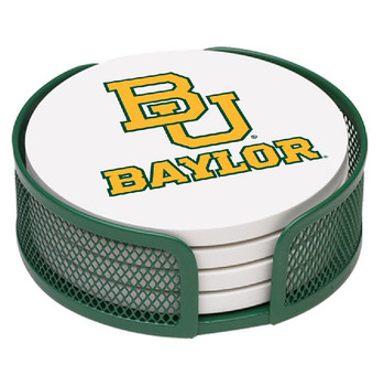 Baylor Bears Beverage Coasters with Mesh Holders, Set of 10