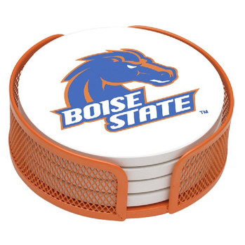 Boise State Broncos Beverage Coasters with Mesh Holders, Set of 10
