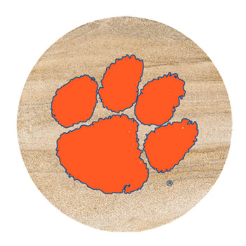 Clemson Tigers Sandstone Beverage Coasters, Set of 8