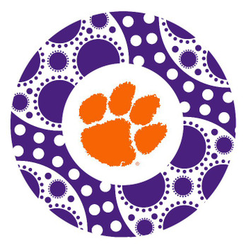 Clemson Tigers Circles Absorbent Beverage Coasters, Set of 8