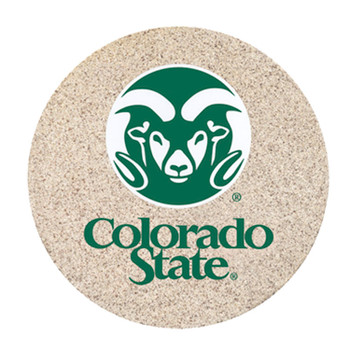 Colorado State Rams Sandstone Beverage Coasters, Set of 8