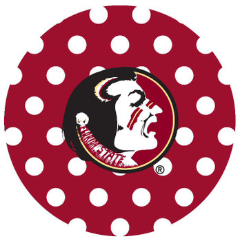 Florida State Seminoles Dots Absorbent Beverage Coasters, Set of 8