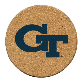 Georgia Tech Yellow Jackets Cork Beverage Coasters, Set of 12