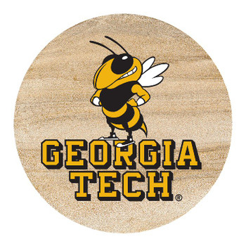 Georgia Tech Yellow Jackets Sandstone Beverage Coasters, Set of 8