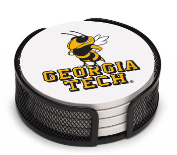 Georgia Tech Yellow Jackets Coasters w/Mesh Holders, Set of 10